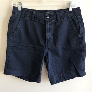 J. Crew navy chino Bermuda shorts